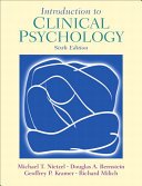 Introduction to Clinical Psychology Book