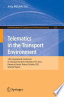 Telematics In The Transport Environment Book PDF