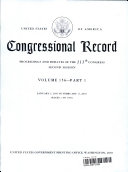 Congressional Record Index, Volume 156, A-K, L-Z