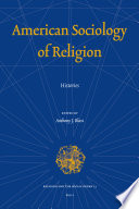 American Sociology of Religion  : Histories