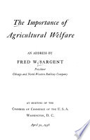 The Importance of Agricultural Welfare
