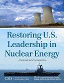 Pdf Restoring U.S. Leadership in Nuclear Energy Telecharger