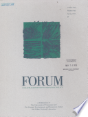 Forum for Applied Research and Public Policy