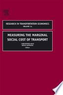 Measuring the Marginal Social Cost of Transport