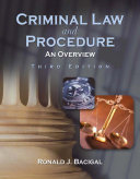 Criminal Law and Procedure: An Overview ebook