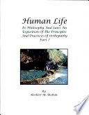 """Human Life: Its Philosophy and Laws"" by Herbert M. Shelton"