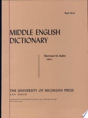 Download Middle English Dictionary Free Books - Book Dictionary