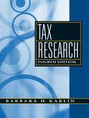 Tax Research Book