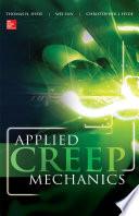 Applied Creep Mechanics Book PDF