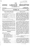The Civic League Bulletin of Newport, R.I.
