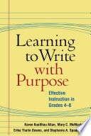 Learning to Write with Purpose Book PDF
