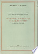 The Historia Occidentalis of Jacques de Vitry