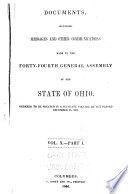 Documents  Including Messages and Other Communications  Made to the     General Assembly of the State of Ohio