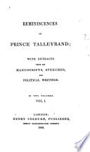 Reminiscences of Prince Talleyrand Book PDF