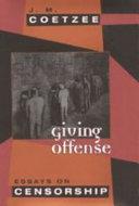 Giving Offense