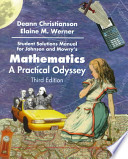 Student Solutions Manual for Johnson/Mowry's Mathematics