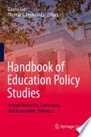 Handbook of Education Policy Studies Book