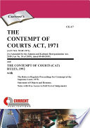 The Contempt of Courts Act  1971