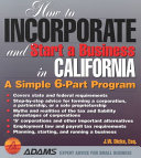 How to Incorporate and Start a Business in California