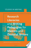 Research Literacies and Writing Pedagogies for Masters and Doctoral Writers Book