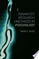 Advanced Research Methods in Psychology Book