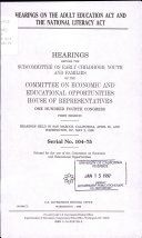 Hearings on the Adult Education Act and the National Literacy Act