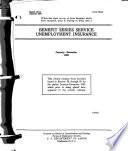 Benefit Series Service  Unemployment Insurance