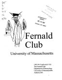 Fernald Club Yearbook Book PDF