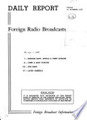 Daily Report  Foreign Radio Broadcasts Book PDF