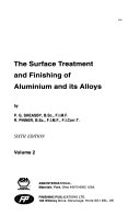 The Surface Treatment and Finishing of Aluminium and Its Alloys Book