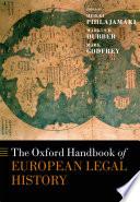 The Oxford Handbook Of European Legal History