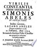 Virilis constantia pueri Simonis Abelis