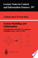 System Modelling And Optimization Book PDF