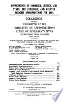 Departments of Commerce, Justice, and State, the Judiciary, and Related Agencies Appropriations for 1994