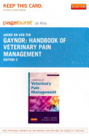 Handbook of Veterinary Pain Management Pageburst on Kno Access Code Book