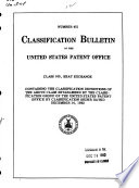 Classification Bulletin of the United States Patent Office from