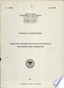 Laboratory Methods for Evaluating Materials for Mineral-wool Production