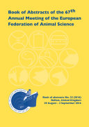 Book of Abstracts of the 67th Annual Meeting of the European Federation of Animal Science