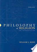 Cover of Philosophy of Religion: An Introduction