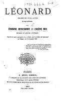 """Pdf Léonard, drame en cinq actes, etc. [Originally published under the title """"Le Retour de Melun.""""]"""