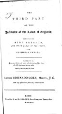 Institutes of the Laws of England