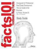 Studyguide for Professional Real Estate Development Book