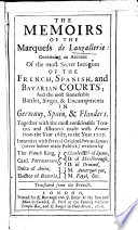 The memoirs of the marquess de Langallerie. Tr. from the French