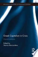 Greek Capitalism in Crisis