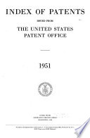Index Of Patents Issued From The United States Patent Office