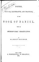 Notes, Critical, Illustrative, and Practical, on the Book of Daniel