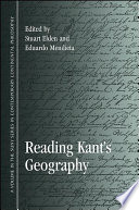 Reading Kant s Geography Book