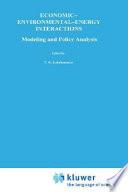 Economic   Environmental   Energy Interactions