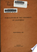 Catalogue of the Publications of the University of California Press