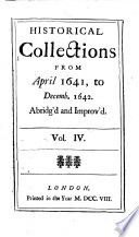 Mr Rushworth S Historical Collections Abridg D And Improved PDF
